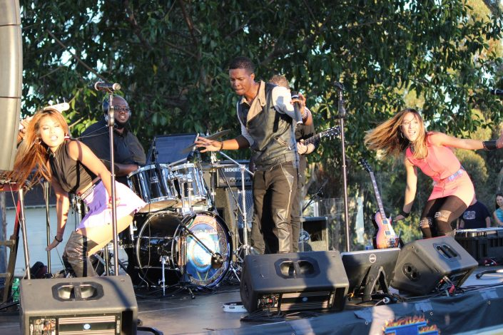 Liquid Blue Band in Mission Hills CA at Pioneer Park