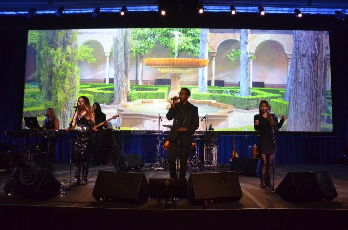 Liquid Blue Band in San Diego CA at Manchester Grand Hyatt
