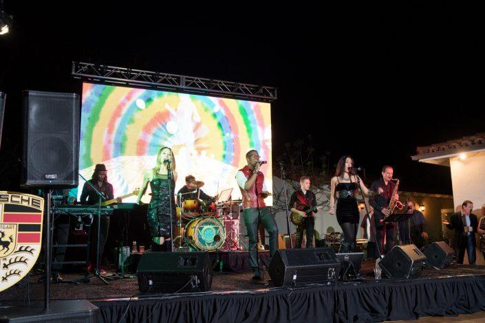 Liquid Blue Band in Rancho Santa Fe CA at Inn at Rancho Santa Fe