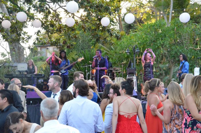 Liquid Blue Band in Encinitas CA at Botanical Gardens