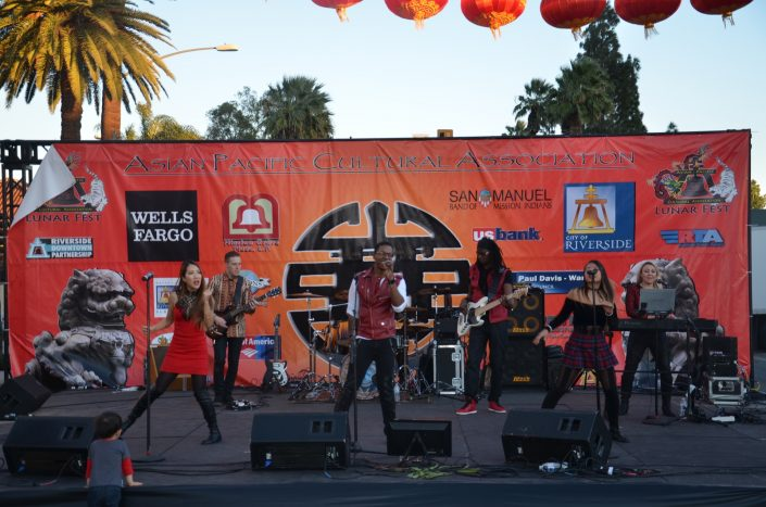 Liquid Blue Band in Riverside CA at Lunar Fest